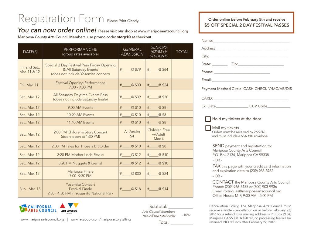 Mariposa Storytelling Registration Form 2016