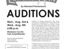 AUDITIONS for The Elephant Man, August 3rd and 5th